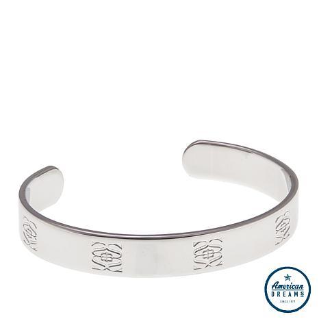 Shelly Brown Engraved Logo Cuff Bracelet