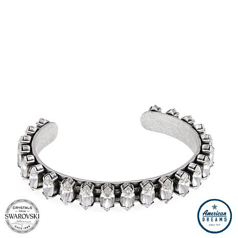 """Shelly Brown """"Jessica"""" Marquise Crystal Cuff Bracelet"""