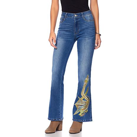 Sheryl Crow Embroidered Flare Jean