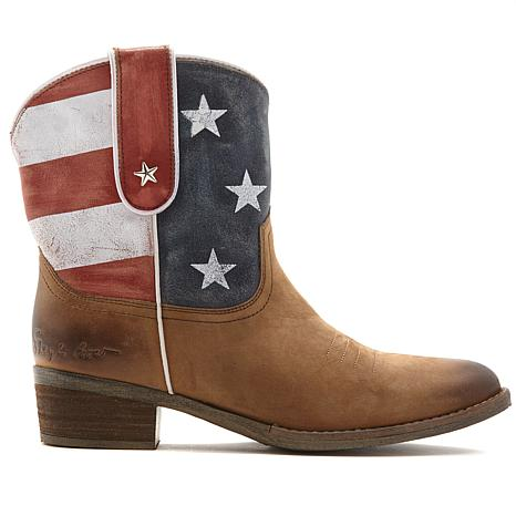57e406670389 exclusive! Sheryl Crow Leather Americana Bootie