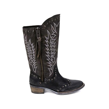 Sheryl Crow Western Leather Boot - 8323577 | HSN