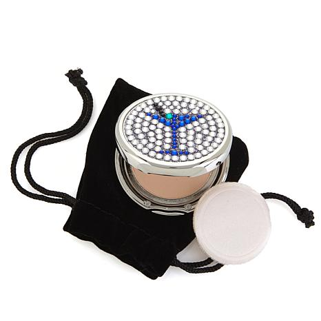 Signature Club A Jeweled Martini Mirrored Compact