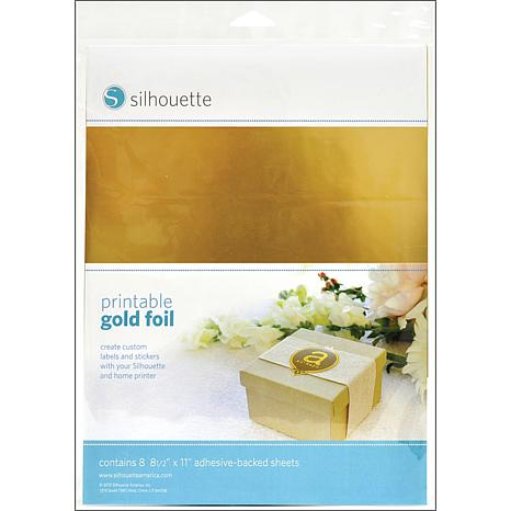 """Silhouette 8.5"""" x 11"""" Printable Adhesive Foil - Gold"""