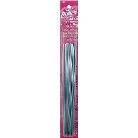Silvalume Double Point Knitting Needles 7 20/Pkg Sock Set - Sizes 0...