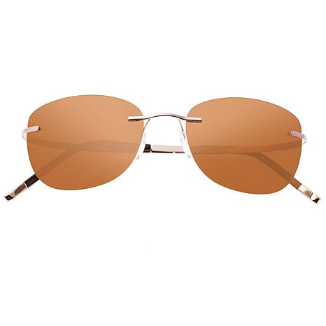 Simplify Matthias Sunglasses with Rose Gold Frame and Brown Lenses
