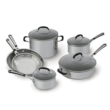 simply calphalon stainless 10piece cookware set