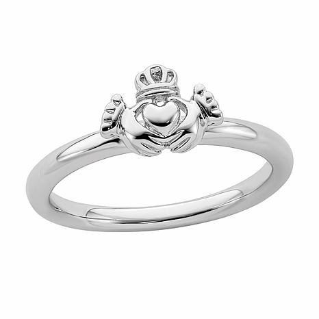 Simply Stacks™ Sterling Silver Claddagh Ring