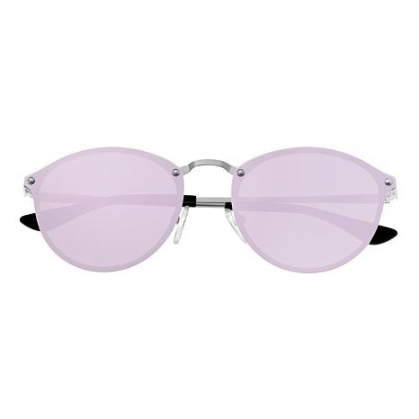 Sixty One Picchu Polarized Sunglasses Silver Frame and Lavender Lenses
