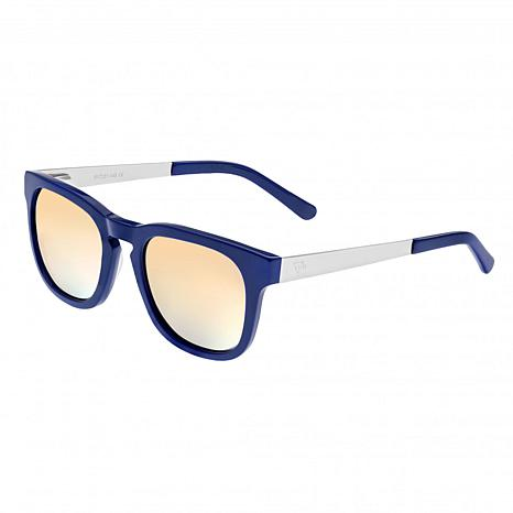 Sixty One Twinbow Polarized Sunglasses - Periwinkle Frame/Green Lenses