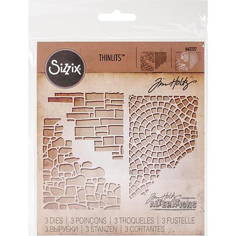 Sizzix Thinlits Dies By Tim Holtz 3-pack - Mixed Media #4