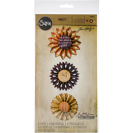 Sizzix® Tim Holtz Thinlits Dies - Rosette Set