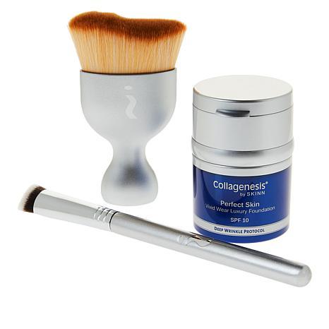 Skinn® Cosmetics Collagenesis®DWP Fair Foundation and Brush Set