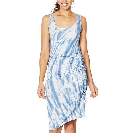 Skinnygirl Connie Side Ruched Midi Tank Dress