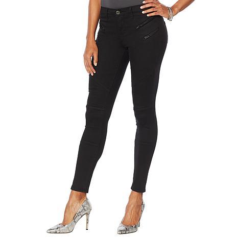 Skinnygirl Skinny Moto Jean with Zipper Details