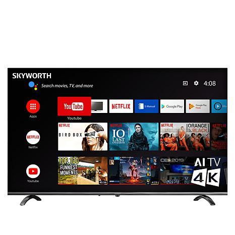 "Skyworth Q20300 50"" 4K UHD LED HDR Smart TV with Google Assistant"