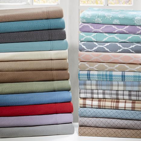 Sleep Philosophy Micro Fleece Sheet Set - Lavender - Cal King
