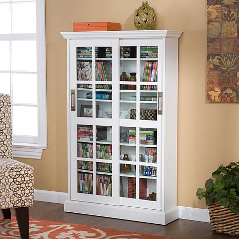 sliding door media cabinet sliding door media cabinet white 6221924 hsn 26228