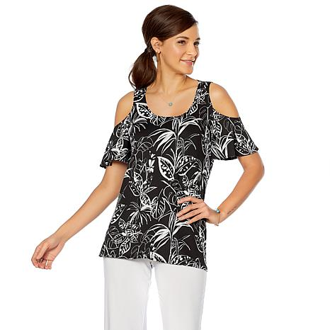 Slinky® Brand 2pk Short Bell Sleeve Tunics in Print and Solid