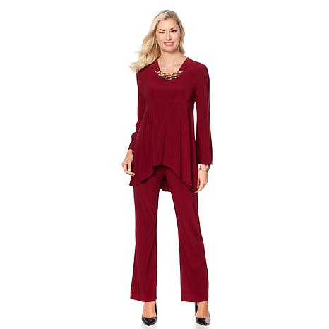 Slinky® Brand Bell-Sleeve Tunic and Flare Pant Set