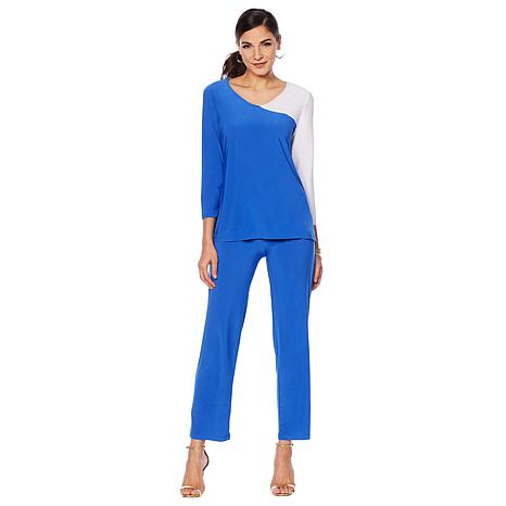 Slinky® Brand Colorblock Tunic with Pant Set