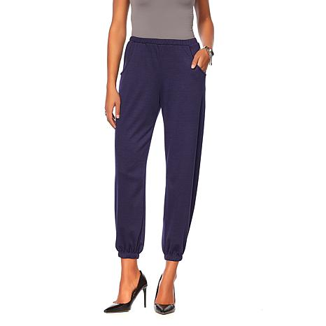Slinky® Brand Ponte Knit Harem Pant with Pockets