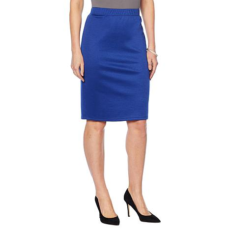 Slinky® Brand Ponte Knit Pencil Skirt