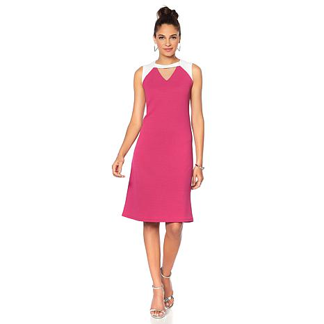 Slinky® Brand Sleeveless Colorblock Dress
