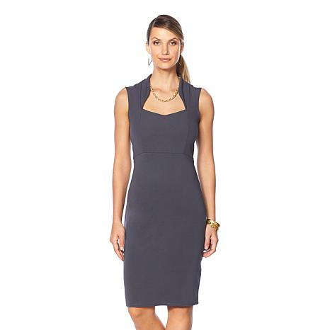 Slinky® Brand Sleeveless Square-Neck Bodycon Dress