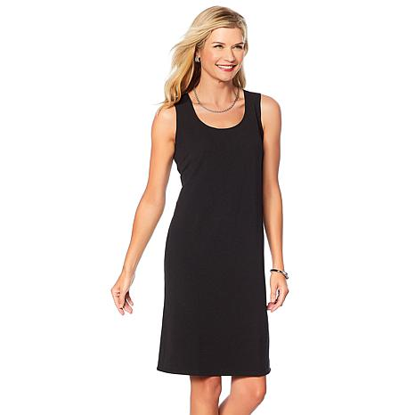 Slinky® Brand Solid Knee-Length Knit Tank Dress