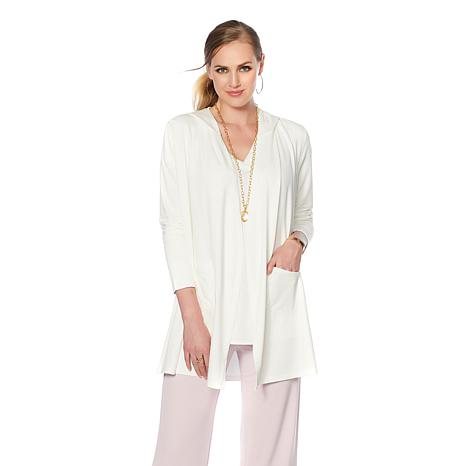 Soft & Cozy Loungewear Cool Luxe Knit Hooded Layering Top