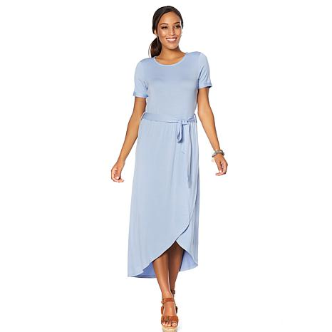 Soft & Cozy Loungewear Cool Luxe Knit Wrap-Skirt Dress