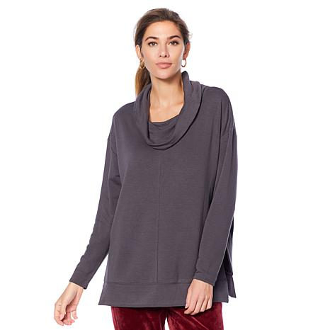 Soft & Cozy Loungewear French Terry Cowl-Neck Pullover