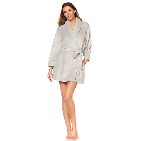 Soft & Cozy Metallic Foil-Print Plush Robe