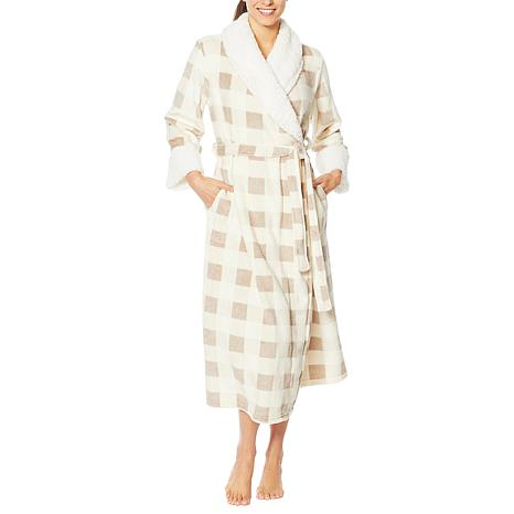 Soft & Cozy Tie-Front Robe with Faux Sherpa Collar