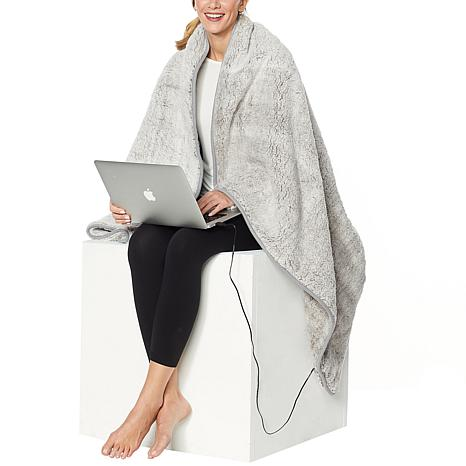 Soft & Cozy USB Portable Sherpa Heated Blanket