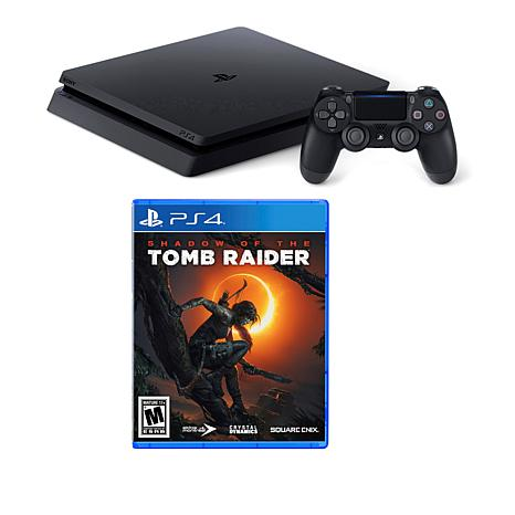 "Sony PlayStation 4 Slim 1TB Console Bundle w/""Shadow of the Tomb"" Game"