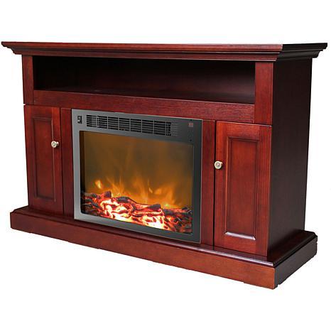 Sorrento Fireplace Mantel w/Electronic Fireplace Insert