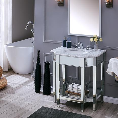 Southern Enterprises Eryyn Mirrored Vanity Sink