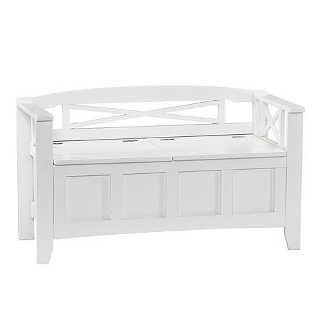 Southern Enterprises Irma Storage Bench - White