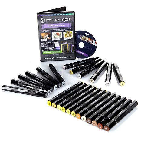 Spectrum Noir 24-piece Marker Set with DVD - Characters