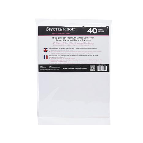 Spectrum Noir 40-piece Ultra-Smooth White Cardstock