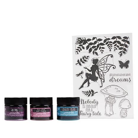 Spectrum Noir Glitter Inks and Clear Stamps