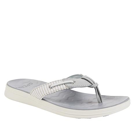 Sperry Adriatic Leather Striped Thong Sandal
