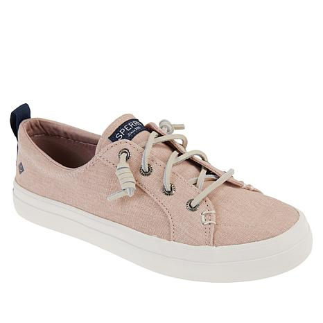c1e287debcc4f Sperry Crest Vibe Washed Linen Laced Sneaker