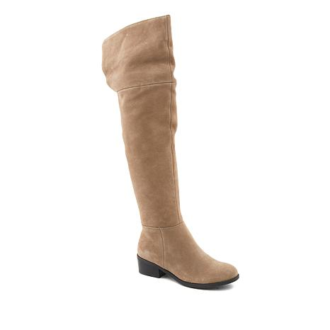 Sporto® Felicia Waterproof Suede Over-the-Knee Cuffed Boot