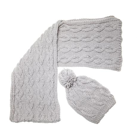 Sporto® Knit Scarf and Hat Set