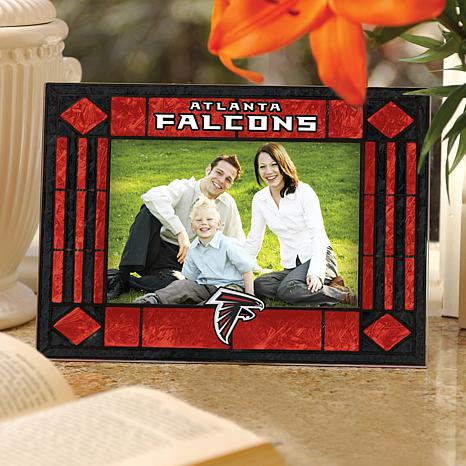 Sports Team Art Glass Picture Frame - Atlanta Falcons
