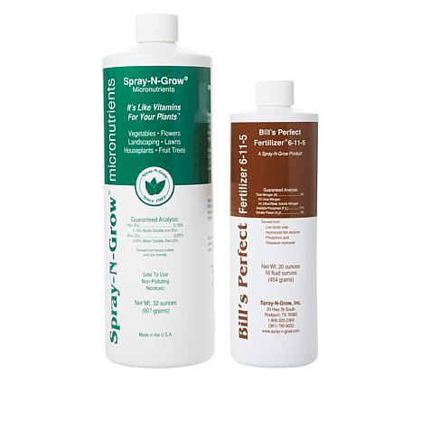 Spray-N-Grow 32 oz. & Bill's Perfect Fertilizer 16 oz. Nutrition Kit