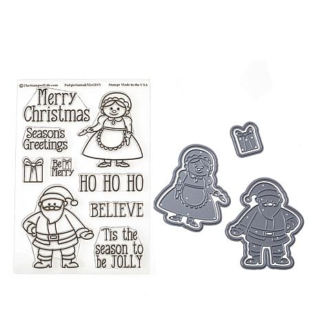 Stamps of Life Santa and Mrs. Claus Pudgie Stamp and Die Set