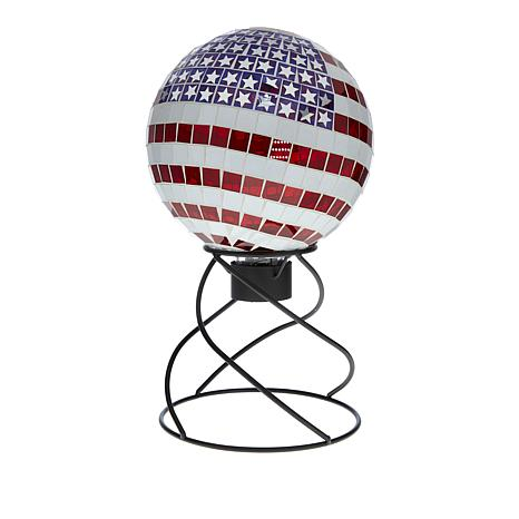 Stars & Stripes Mosaic Gazing Globe